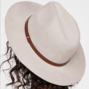 Free People Wythe Leather Band Felt Hat Fedora